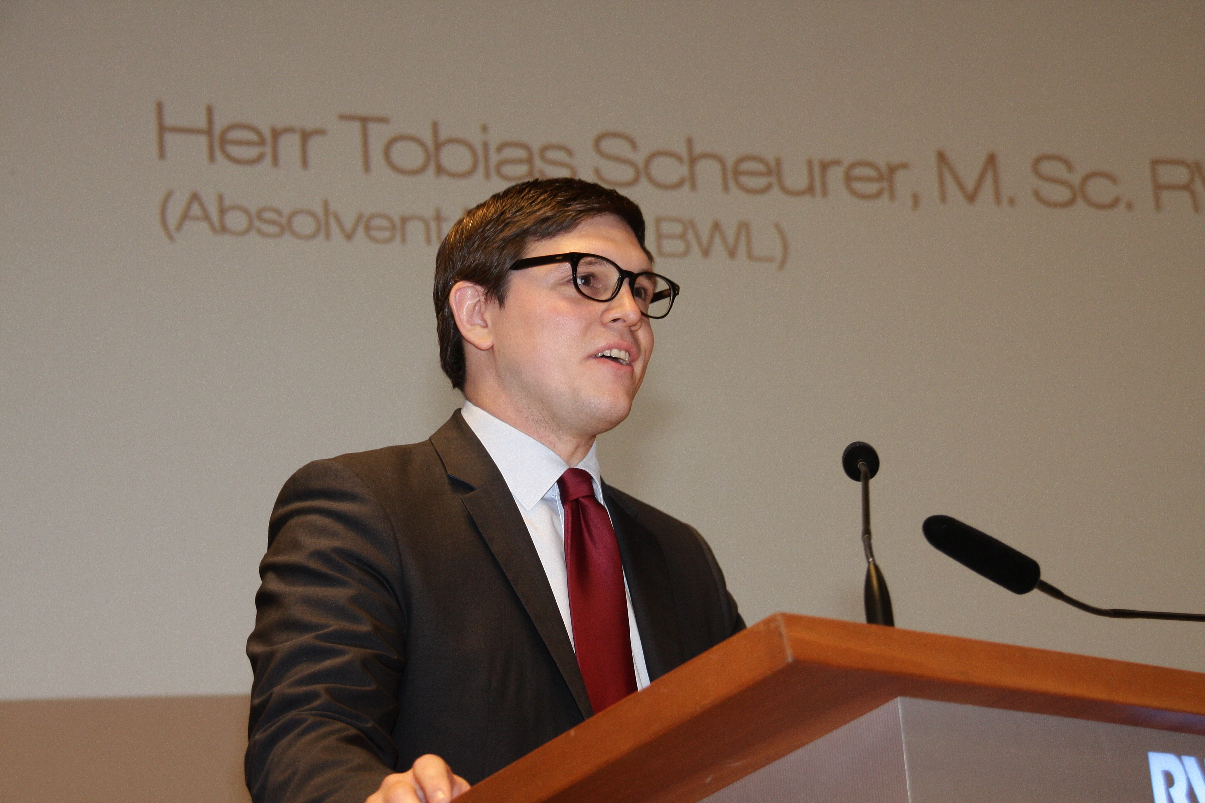 "Graduate Tobias Scheurer Gave this Year's ""Student Speech"""